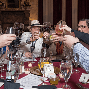 DC Murder Mystery guests raise glasses